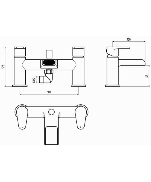 Technical drawing 60158 / BIQBAL01