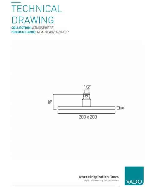 Technical drawing 19697 / ATM-HEAD/SQ/B-C/P