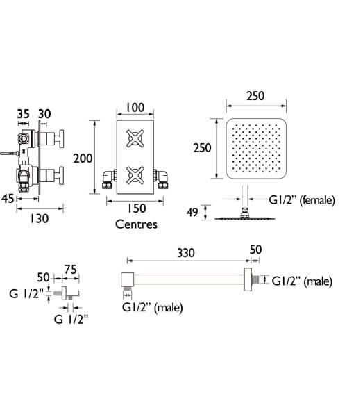 Technical drawing 55415 / CASINO SHWR PK