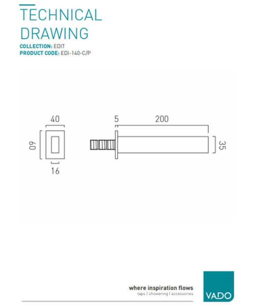 Technical drawing 41665 / EDI-140-C/P