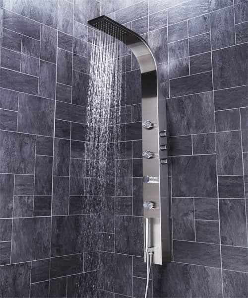Alternate image of Frontline Aquaflow Italia Garda Thermostatic Shower Panel With Built In Massage Jets
