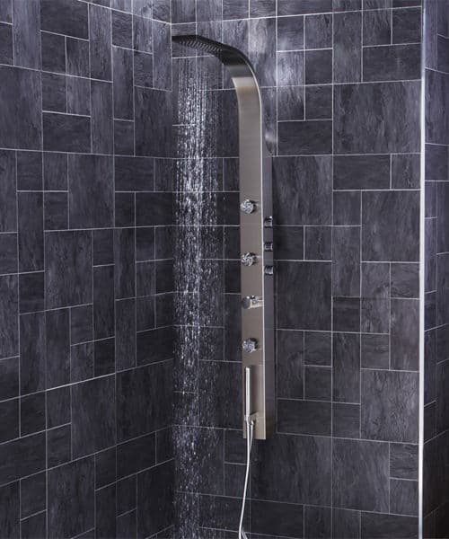 Frontline Aquaflow Italia Garda Thermostatic Shower Panel With Built In Massage Jets