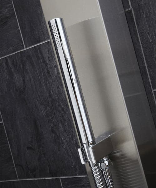 Additional image of Frontline Aquaflow Italia Garda Thermostatic Shower Panel With Built In Massage Jets