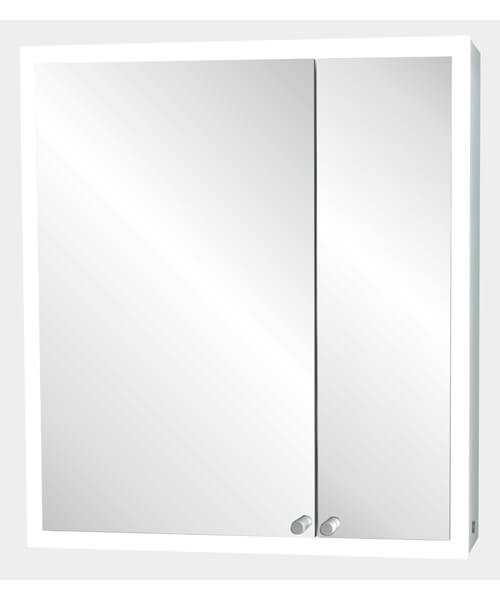 Frontline Nice 2 Door LED Mirrored Cabinet With Sensor And Shaving Socket
