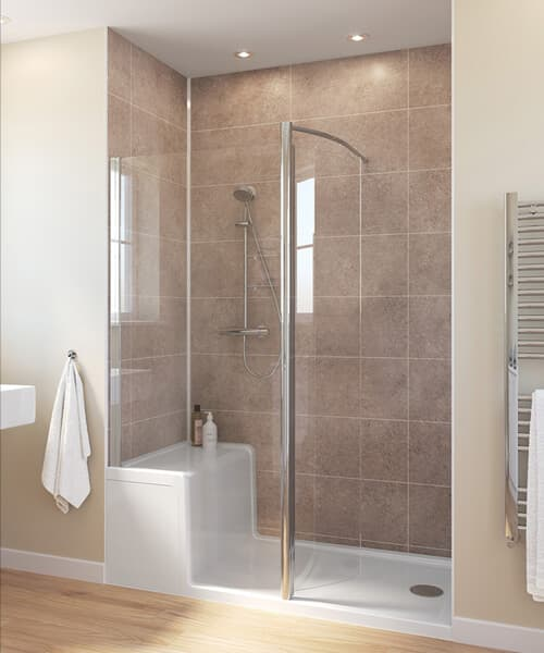 Lakes Classic Walk-in Enclosure With Seated Shower Tray - W 1500 x D 800mm