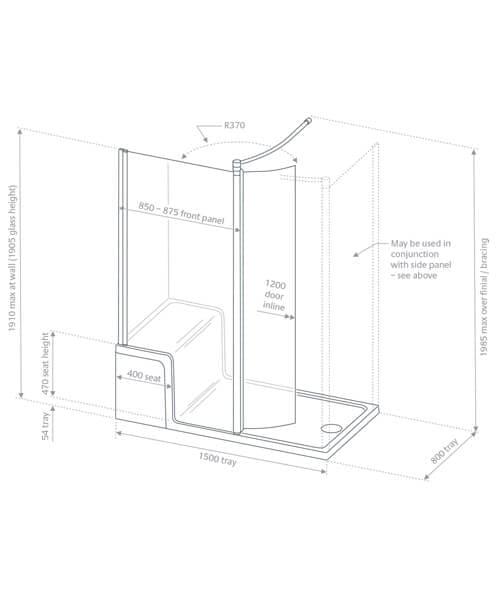 Technical drawing 60543 / LWSST1200LS