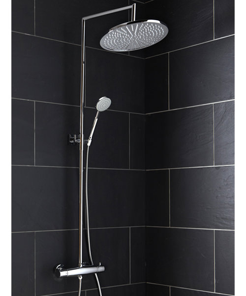 Frontline Farrara Thermostatic Shower Column With Diverter And Fixed Head