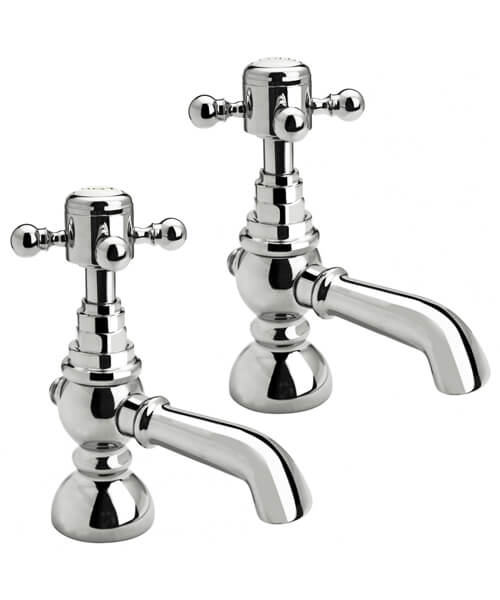Frontline Holborn Edwardian Single Pair Of Bath Taps