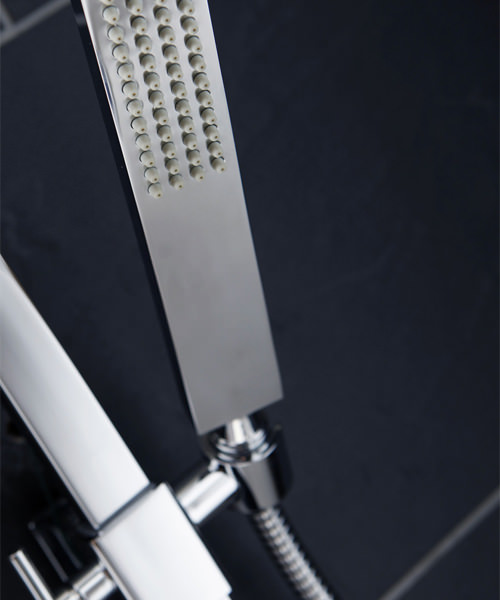 Additional image of Frontline Montreux Thermostatic Shower Column With Diverter And Fixed Square Head