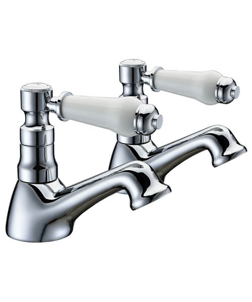 Frontline Holborn Lever Pair Of Basin Taps