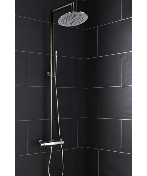 Frontline Rimini Thermostatic Shower Column With Diverter And Fixed Head