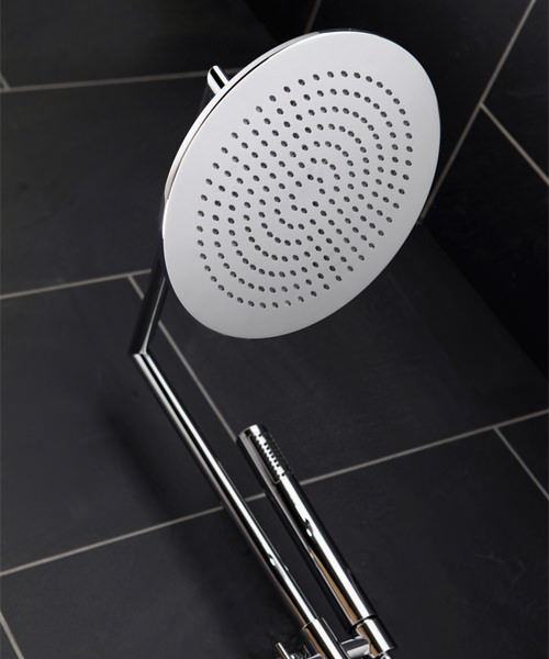 Additional image of Frontline Rimini Thermostatic Shower Column With Diverter And Fixed Head
