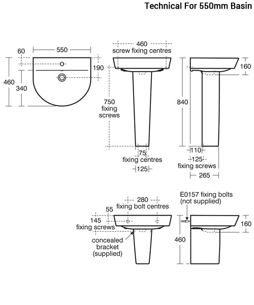 Additional image of Ideal Standard Concept Air Arc Washbasin