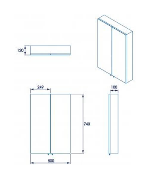 Additional image of Croydex Colorado Single Door 380 x 670mm Large Cabinet