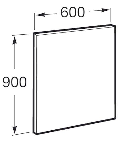 Additional image of Roca Deimos Vertical Mirror 300 x 1200mm Portrait