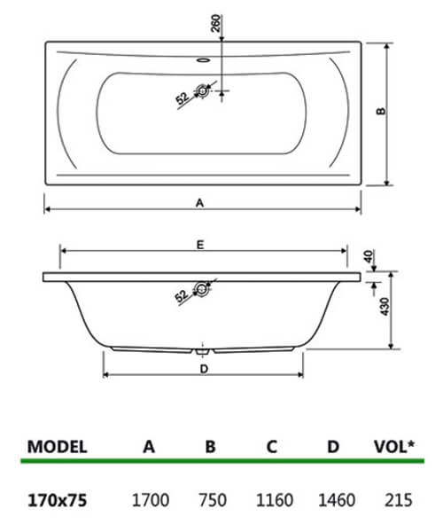 Technical drawing 23458 / 200ARE1775AQMAXCWS06