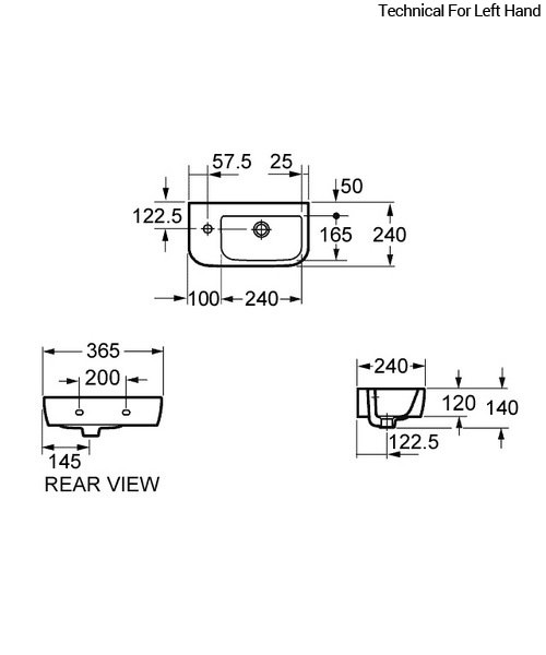 Technical drawing 30662 / LH10100L