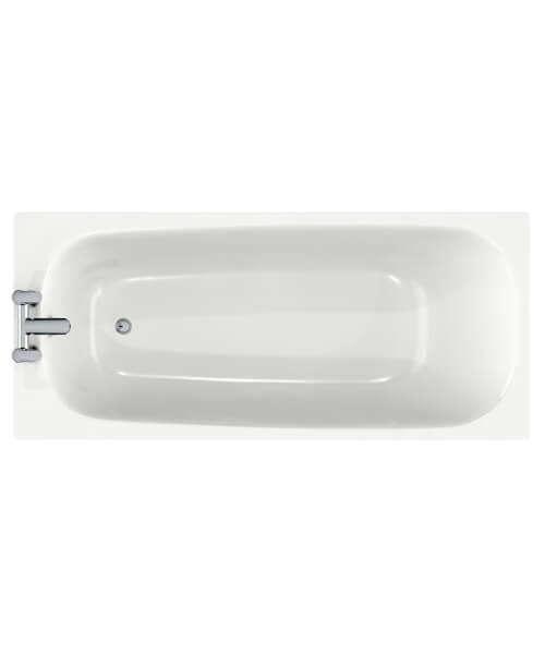 Roca Carla 1500 x 700mm Steel Rectangular Shape Bath With 2 Tapholes