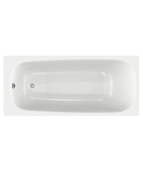 Alternate image of Roca Carla 1500 x 700mm Steel Rectangular Shape Bath With 2 Tapholes