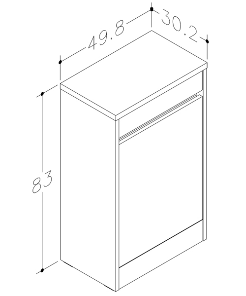 Technical drawing 60070 / COC500WCGO