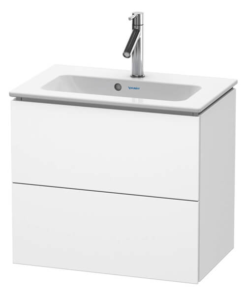 Duravit L-Cube Wall Mounted Compact 2 Drawer Vanity Unit For Me By Starck Basin
