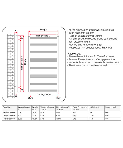 Technical drawing 62578 / RXQU-0700600-CH