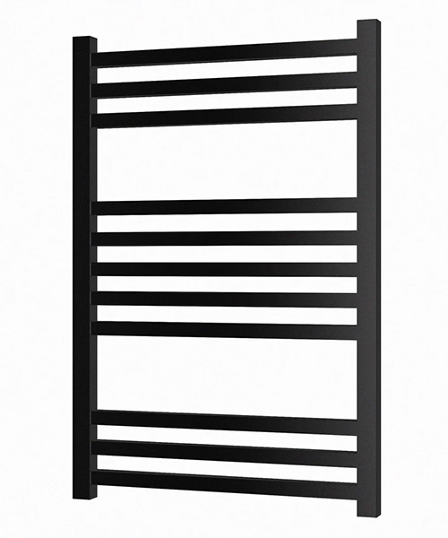 Radox Quebis 500 x 700mm Heated Towel Rail In Black Pearl