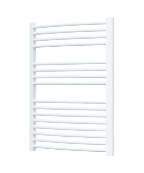 Radox Premier Curved Heated Towel Rail 500 x 800mm - White