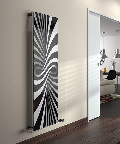 Additional image of Radox Quartz Bespoke Digital Print Glass Designer Vertical Radiator
