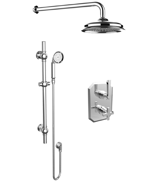 Saneux Cromwell Thermostatic Shower Kit With Slider Rail