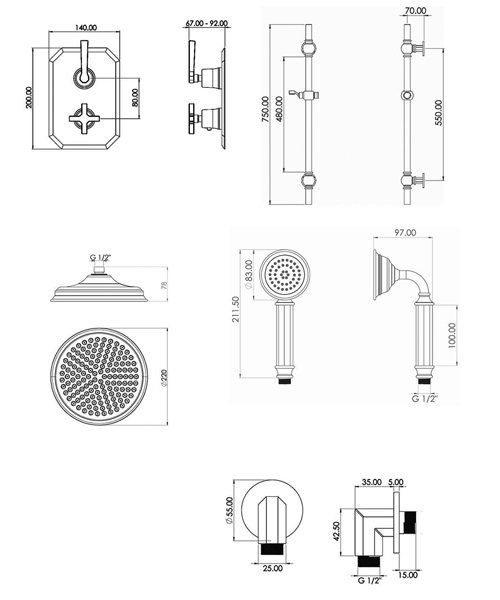 Technical drawing 63031 / CRSP02L
