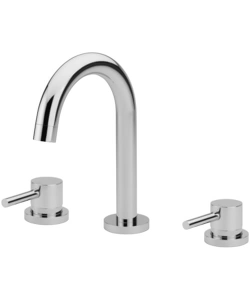 Tre Mercati Poppy 3 Hole Deck Mounted Basin Mixer Tap With Click Clack Waste