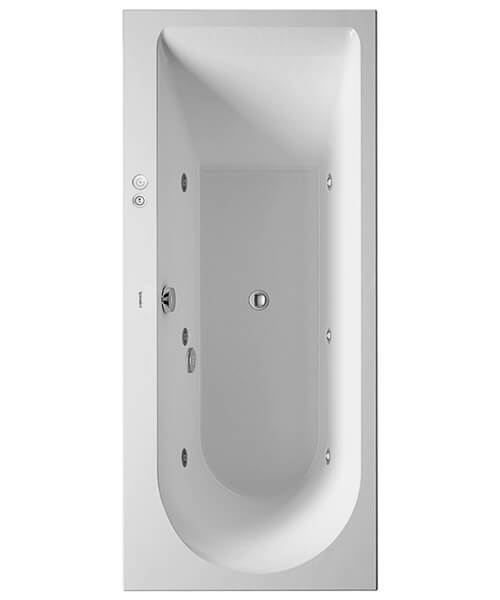 Duravit Darling New 1700 x 750mm Built-In Or For Panel Whirlpool Bath With Backrest Slope