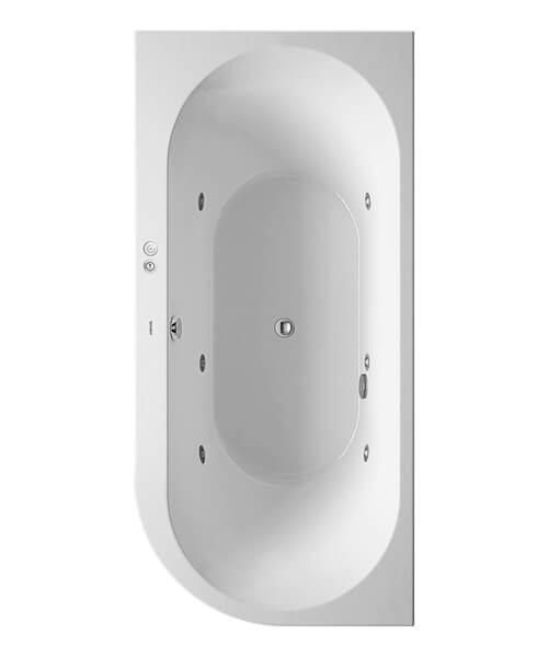 Duravit Darling New 1900 x 900mm Whirlpool Bath With Acrylic Panel