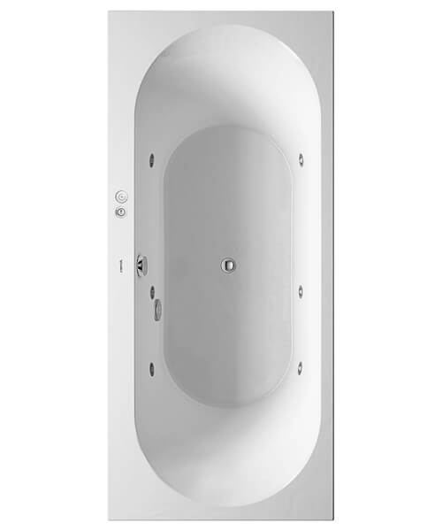Duravit Darling New Built-In Or For Panel Whirlpool Bath With Two Backrest Slope