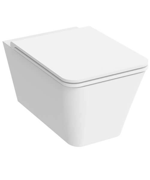 Saneux Icon Rimless Square 550mm Projection Wall Hung WC