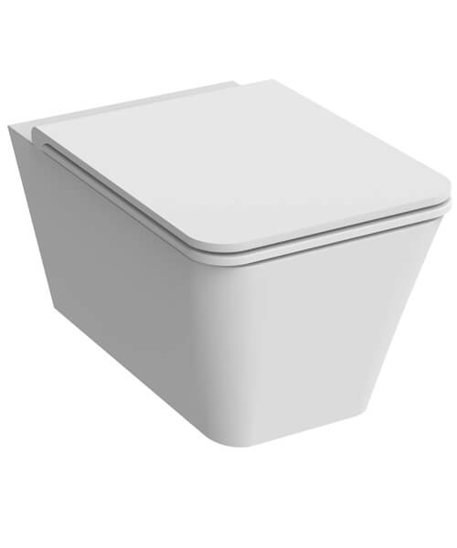 Additional image of Saneux Icon Rimless Square 550mm Projection Wall Hung WC