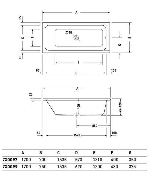 Technical drawing 50876 / 700097000000000