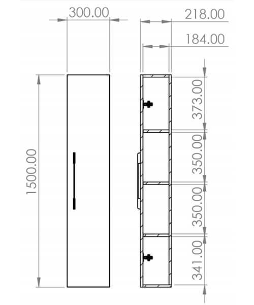 Technical drawing 54199 / AU030S.GW