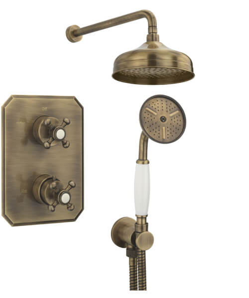 Alternate image of Tre Mercati Allora 2 Way Thermostatic Concealed Shower Valve With Complete Shower Kit