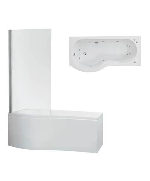 Phoenix Capri Left Hand Whirlpool Bath With Panel And Screen - System 1