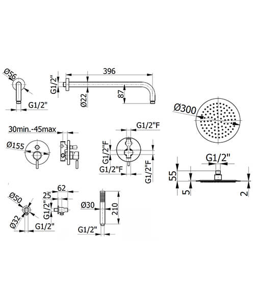 Technical drawing 58214 / FMVIBSP