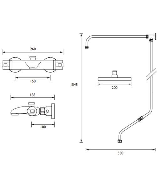 Technical drawing 63255 / AS2 WMT THBSM KIT C
