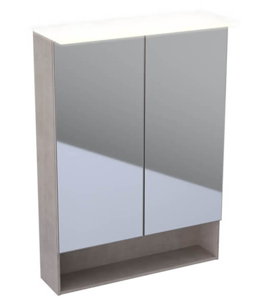 Geberit Acanto 830mm High Double Door Mirror Cabinet With LED Lighting