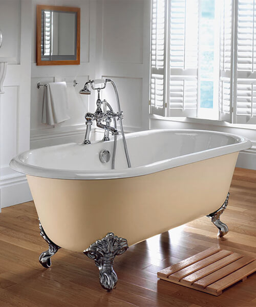 Additional image of Imperial Bentley Cast Iron 1700mm Bath With Primed Cast Iron Feet