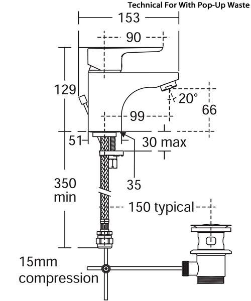 Technical drawing 37864 / B0764AA