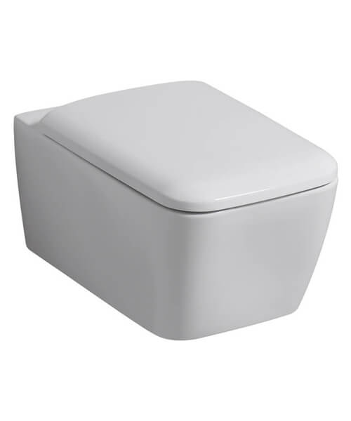 Geberit Icon Square Rimless Wall Hung Shrouded WC Pan 350 x 540mm