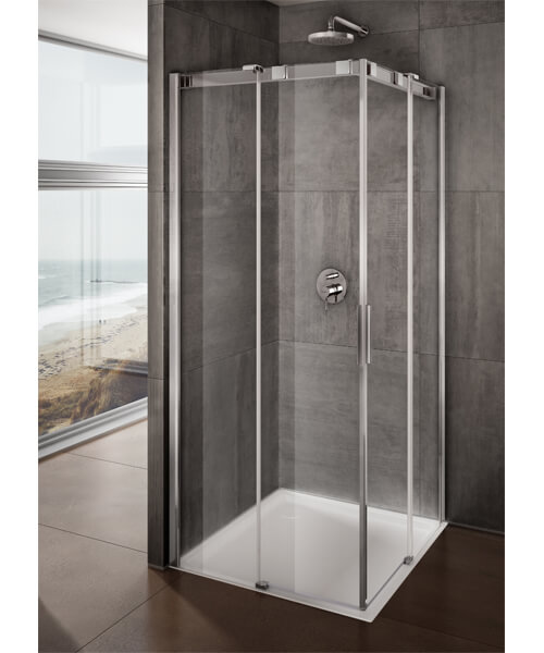 Lakes Italia Avanza Sliding Door Corner Entry Enclosure - W 800 x D 800mm
