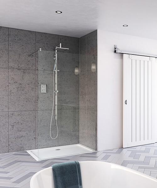 Aqata Design DS400 400mm Wide Shower Screen For Recess
