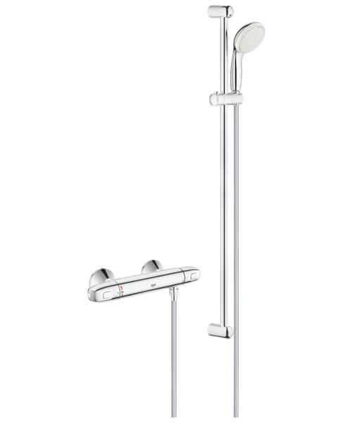 Grohe Grohtherm 1000 Thermostatic Shower Mixer Valve With Shower Set